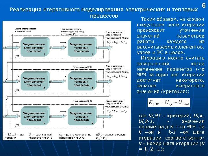 Реализация итеративного моделирования электрических и тепловых процессов 6 Таким образом, на каждом следующем шаге