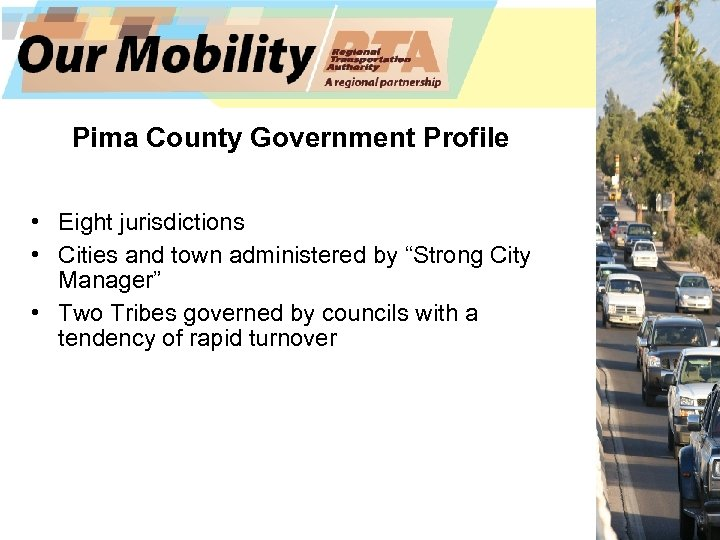 "Pima County Government Profile • Eight jurisdictions • Cities and town administered by ""Strong"