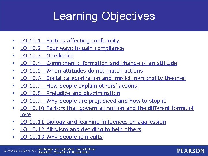 Learning Objectives • • • • LO 10. 1 LO 10. 2 LO 10.