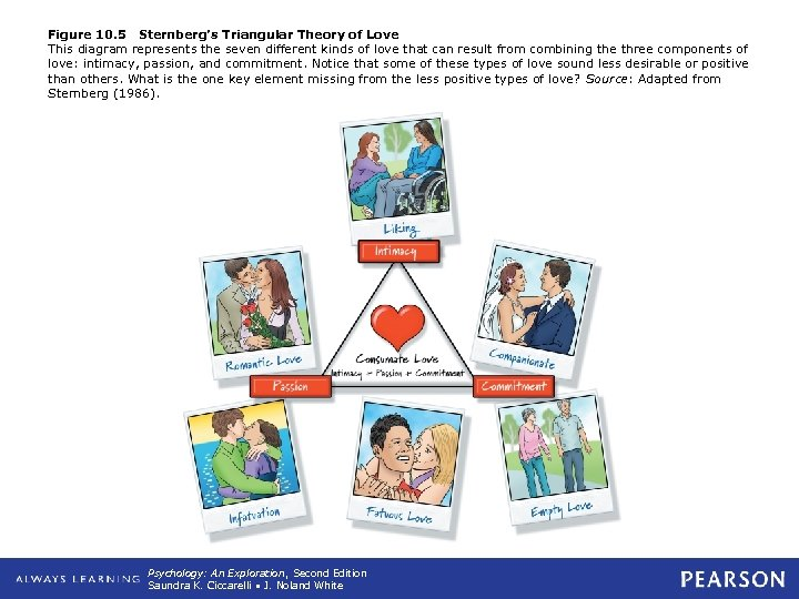 Figure 10. 5 Sternberg's Triangular Theory of Love This diagram represents the seven different
