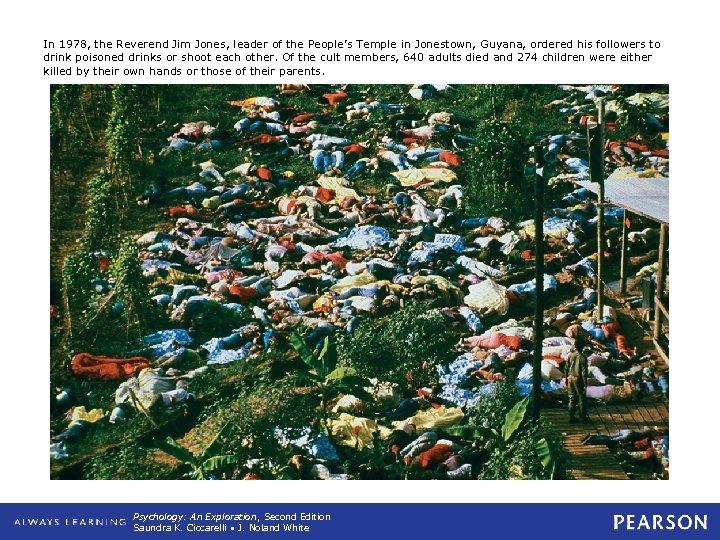 In 1978, the Reverend Jim Jones, leader of the People's Temple in Jonestown, Guyana,