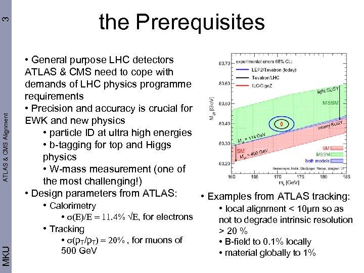 3 ATLAS & CMS Alignment MKU the Prerequisites • General purpose LHC detectors ATLAS