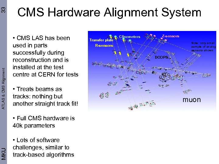 33 ATLAS & CMS Alignment CMS Hardware Alignment System • CMS LAS has been