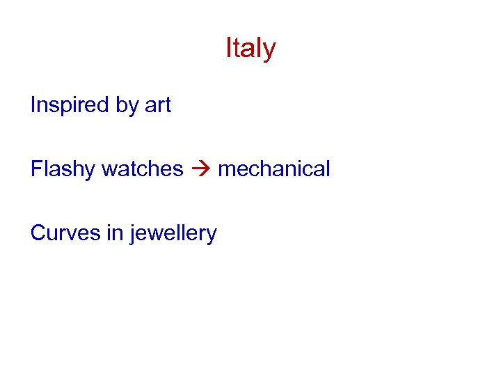 Italy Inspired by art Flashy watches mechanical Curves in jewellery