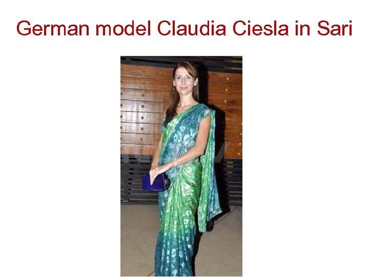 German model Claudia Ciesla in Sari