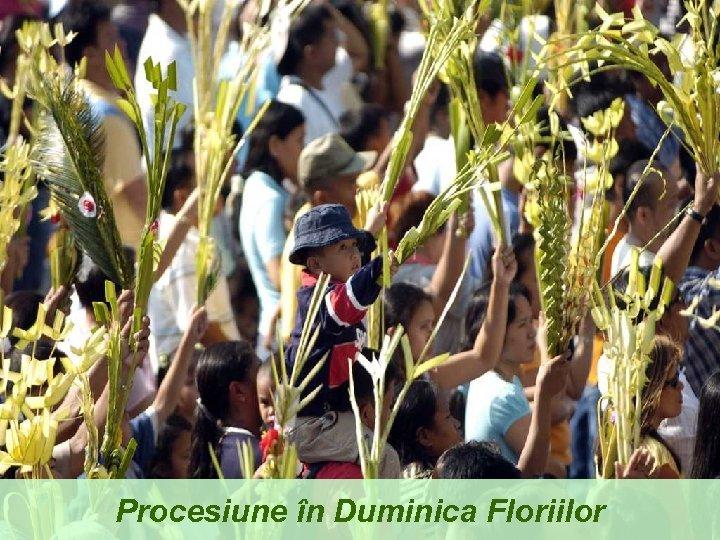 Procesiune în Duminica Floriilor