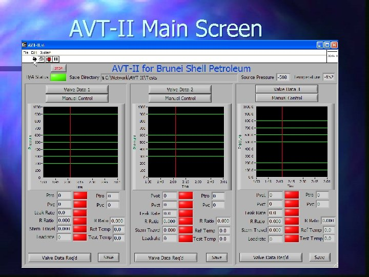 AVT-II Main Screen