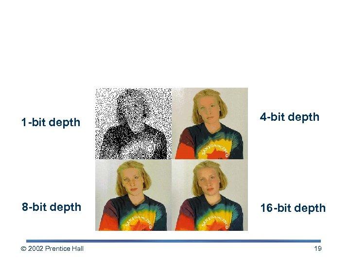 Examples of Color Depth 1 -bit depth 4 -bit depth 8 -bit depth 16