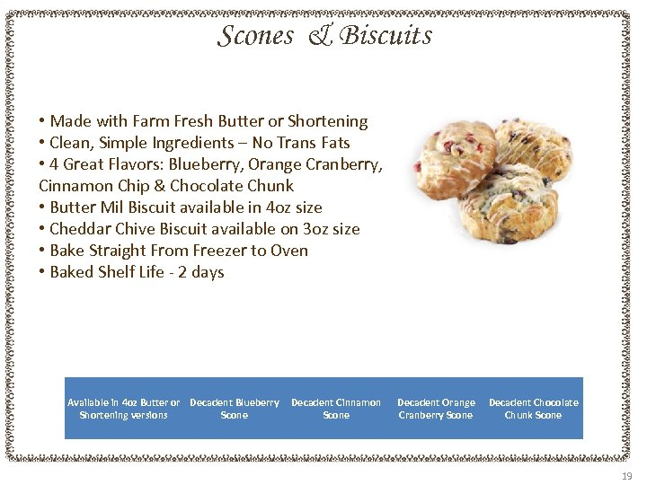 Scones & Biscuits • Made with Farm Fresh Butter or Shortening • Clean, Simple