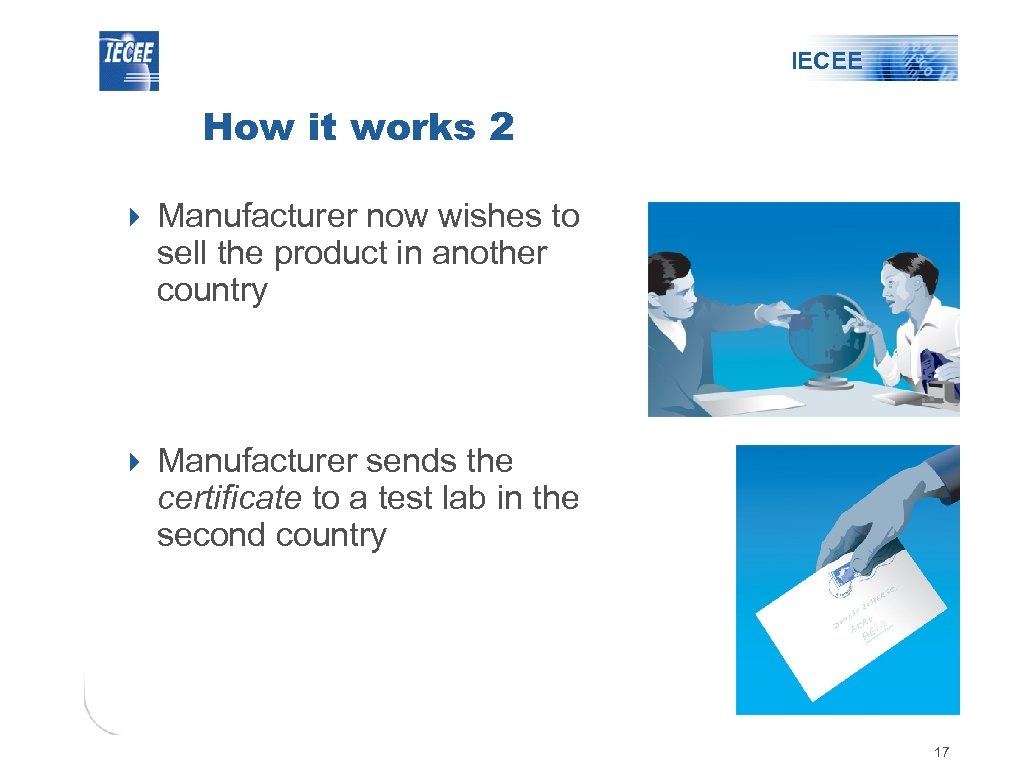 IECEE How it works 2 4 Manufacturer now wishes to sell the product in