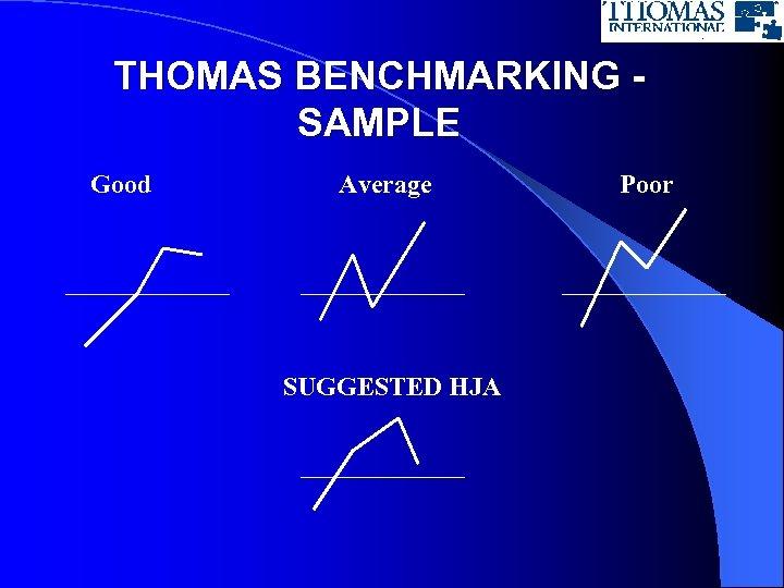 THOMAS BENCHMARKING SAMPLE Good Average SUGGESTED HJA Poor