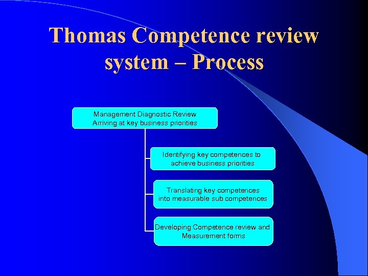 Thomas Competence review system – Process Management Diagnostic Review Arriving at key business priorities