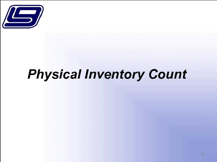 Physical Inventory Count 78