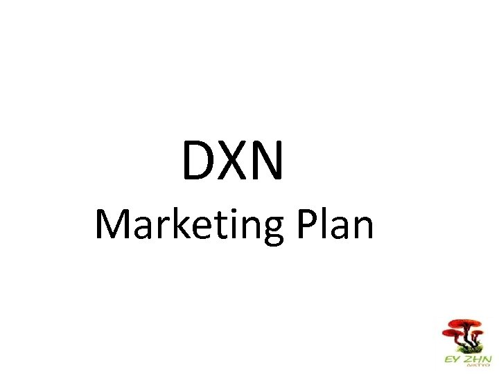 DXN Marketing Plan