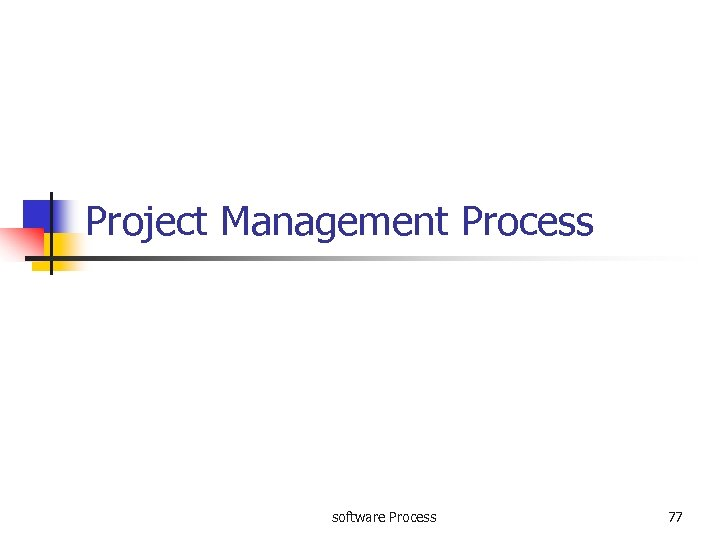 Project Management Process software Process 77