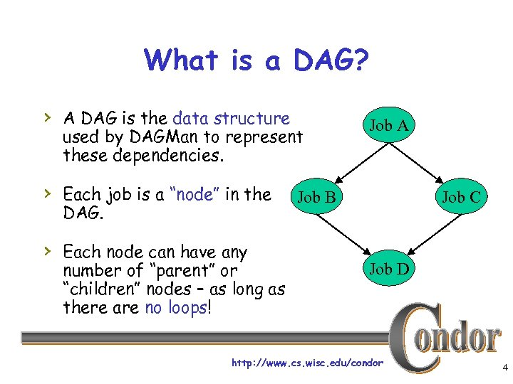 What is a DAG? › A DAG is the data structure used by DAGMan