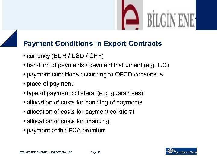 """Good operating business – Bayern. LB """"back on track"""" Payment Conditions in Export Contracts"""