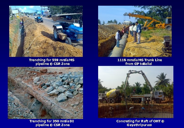 Trenching for 559 mm MS dia pipeline @ CSR Zone 1118 mmdia MS Trunk