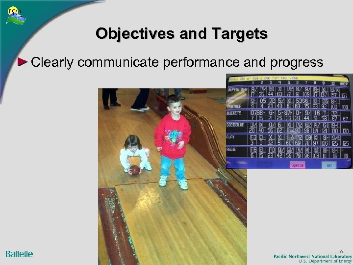 Objectives and Targets Clearly communicate performance and progress 9