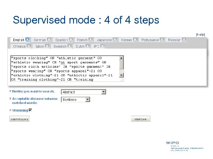 Supervised mode : 4 of 4 steps