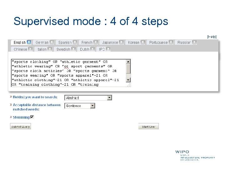 Supervised mode : 4 of 4 steps