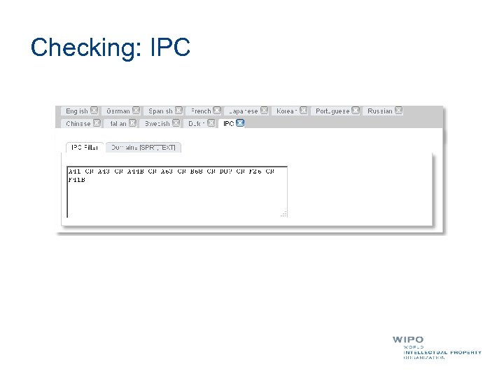 Checking: IPC