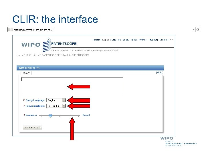 CLIR: the interface