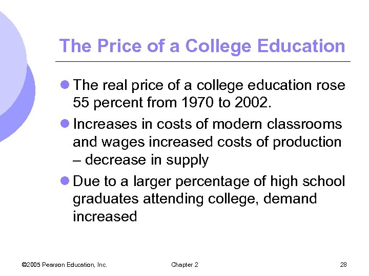 The Price of a College Education l The real price of a college education