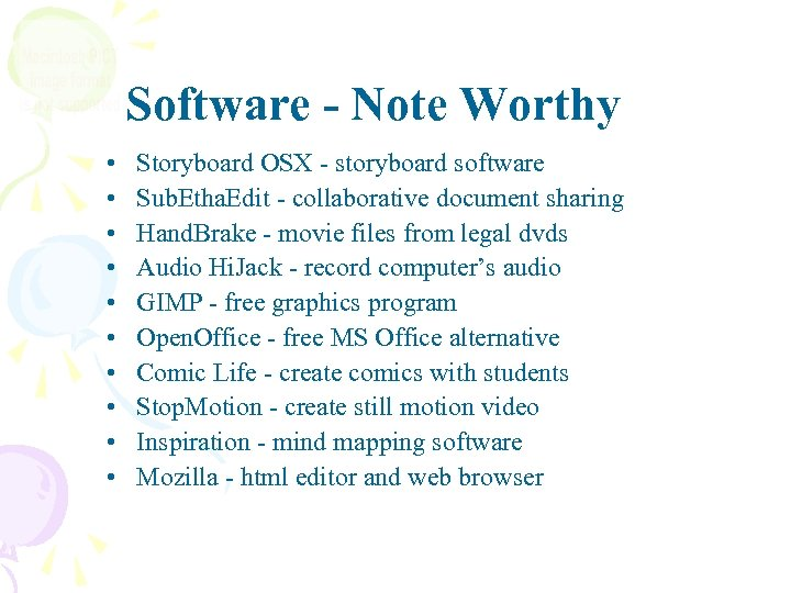 Software - Note Worthy • • • Storyboard OSX - storyboard software Sub. Etha.