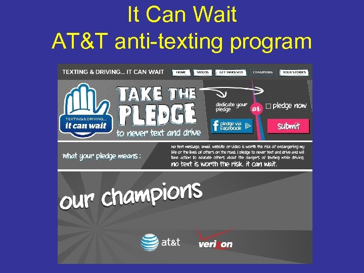 It Can Wait AT&T anti-texting program