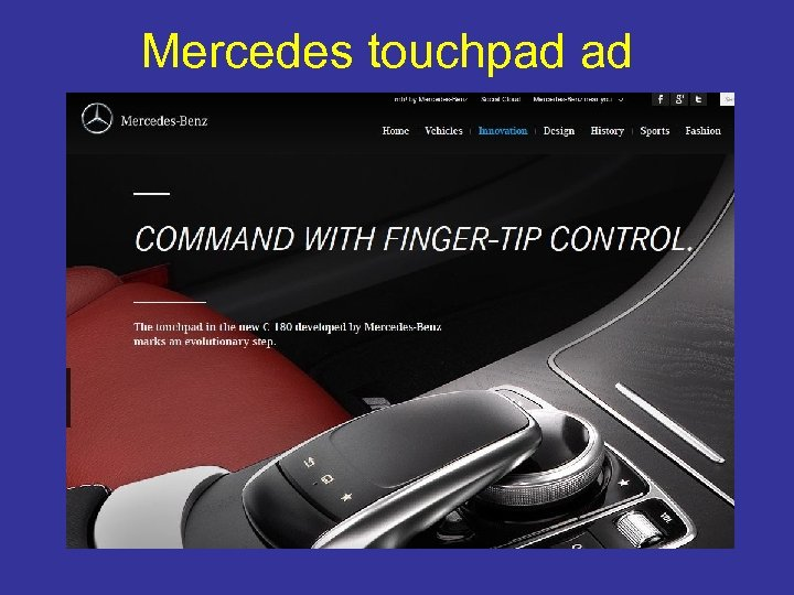 Mercedes touchpad ad
