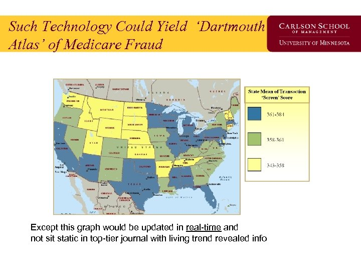 Such Technology Could Yield 'Dartmouth Atlas' of Medicare Fraud Except this graph would be