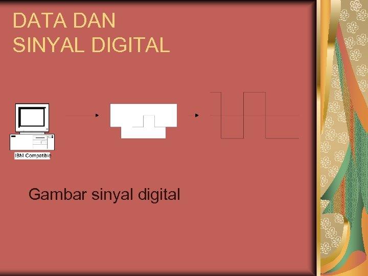 DATA DAN SINYAL DIGITAL Gambar sinyal digital
