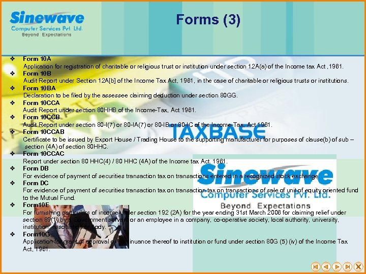 Forms (3) v Form 10 A Application for registration of charitable or religious trust