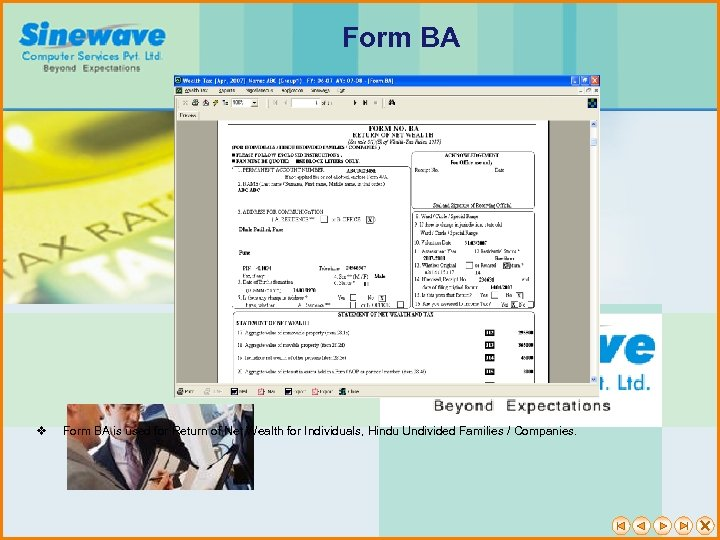 Form BA v Form BA is used for Return of Net Wealth for Individuals,
