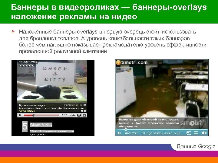 Баннеры в видеороликах — баннеры-overlays наложение рекламы на видео Наложенные баннеры-overlays в первую очередь