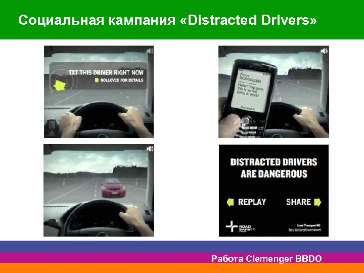 Социальная кампания «Distracted Drivers» Работа Clemenger BBDO