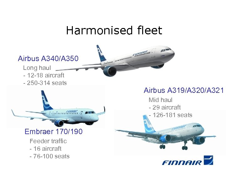 Harmonised fleet Airbus A 340/A 350 Long haul - 12 -18 aircraft - 250