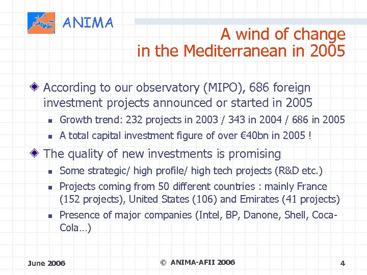 ANIMA A wind of change in the Mediterranean in 2005 According to our observatory