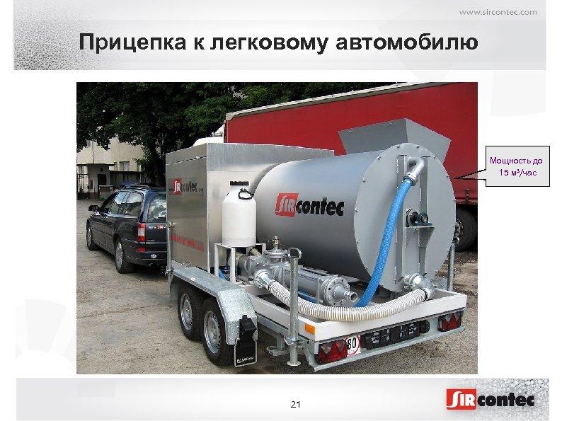 Прицепка к легковому автомобилю Мощность до 15 м³/час 21