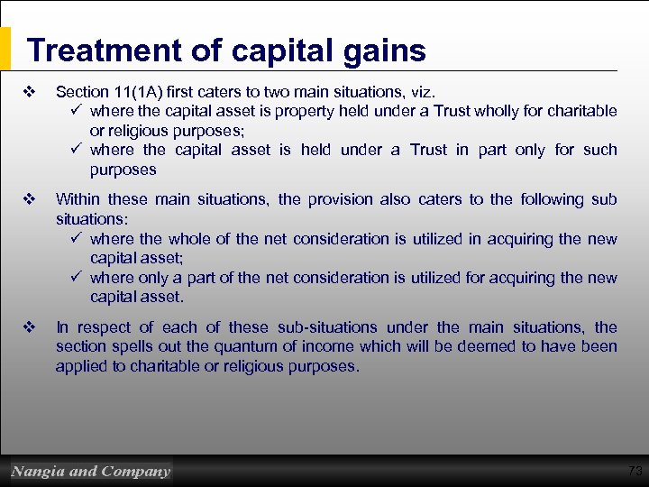 taxation treatment capital gains and current events economics essay The current approach to cgt on property in the uk is complex there is a divergence in the treatment of residents and non-residents in respect of non-residential property on top of this, there is a variation in the cgt treatment depending on the type and value of property being disposed of for.