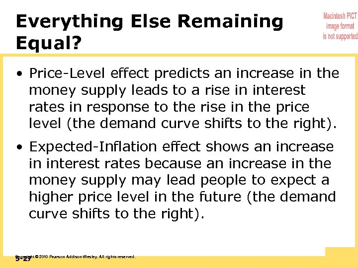 Everything Else Remaining Equal? • Price-Level effect predicts an increase in the money supply