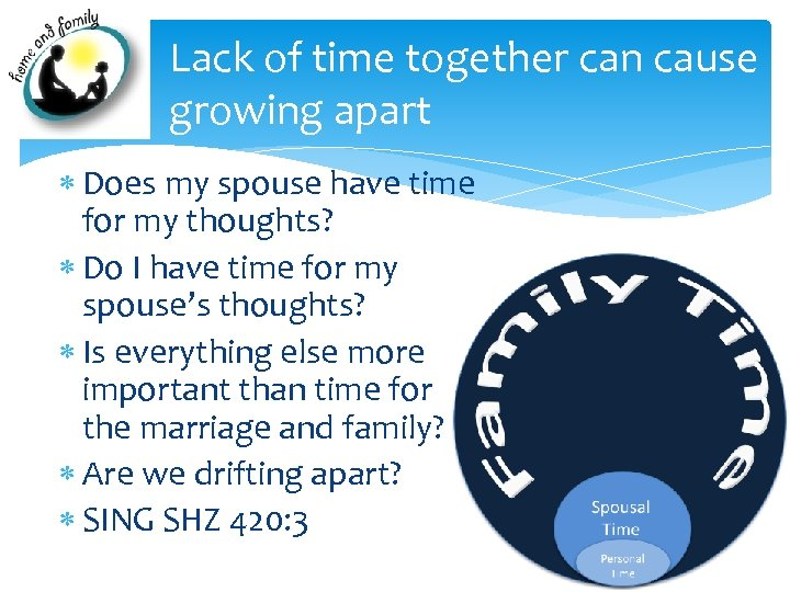 Lack of time together can cause growing apart Does my spouse have time for