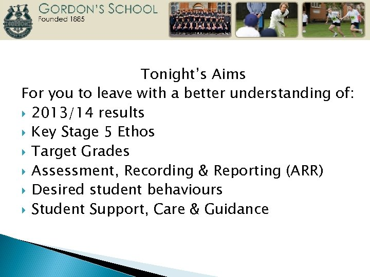 Tonight's Aims For you to leave with a better understanding of: 2013/14 results Key