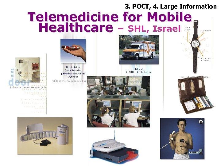3. POCT, 4. Large Information Telemedicine for Mobile Healthcare – SHL, Israel