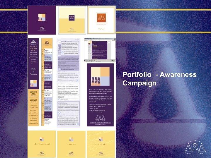 Portfolio - Awareness Campaign