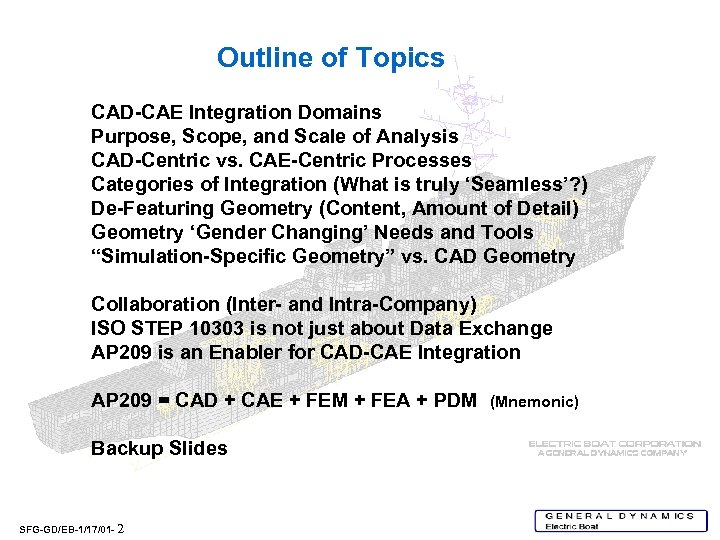 Outline of Topics CAD-CAE Integration Domains Purpose, Scope, and Scale of Analysis CAD-Centric vs.