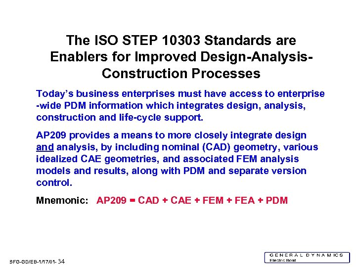 The ISO STEP 10303 Standards are Enablers for Improved Design-Analysis. Construction Processes Today's business