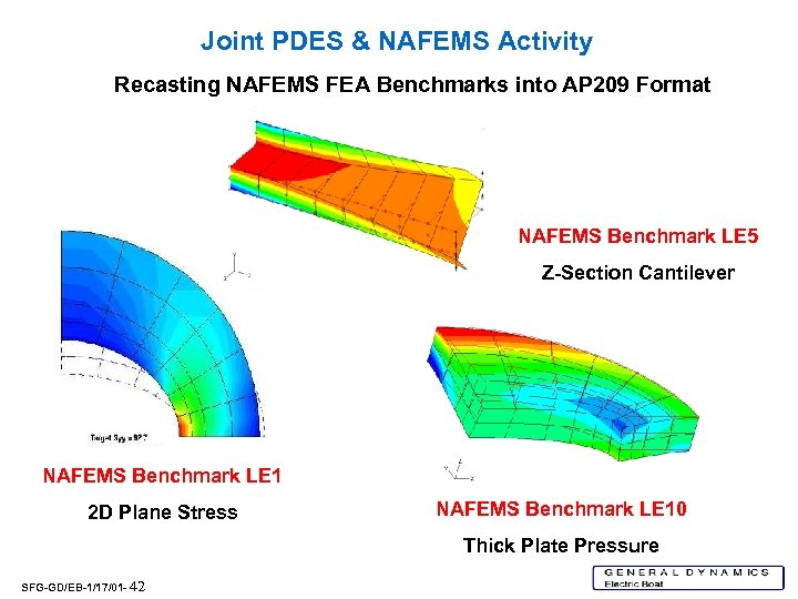 Joint PDES & NAFEMS Activity Recasting NAFEMS FEA Benchmarks into AP 209 Format NAFEMS