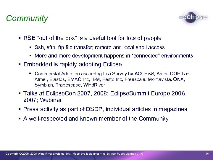 """Community RSE """"out of the box"""" is a useful tool for lots of people"""